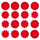 Big set of red promotional stickers Stock Photography