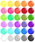 Big set of round buttons Stock Photos