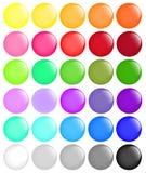 Big set of round buttons. Vector Stock Photos