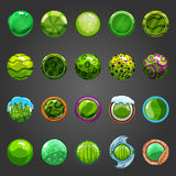 Big set of round green  button Royalty Free Stock Photography