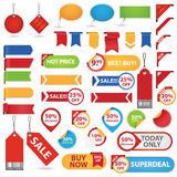 Big Set of Sale Stickers Stock Photos
