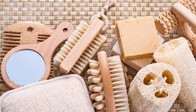 Big set of sauna items Stock Image
