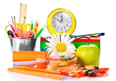 Big set of school accessories Stock Photography