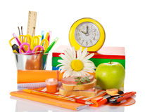 Big a set of school accessories Stock Images