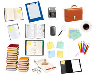 Big set of school supplies. Vector. Royalty Free Stock Image