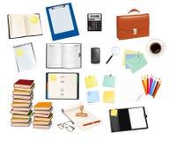 Big set of school supplies. Vector. Big set of school and office supplies. Vector Royalty Free Stock Image