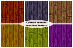 Big set seamless background texture colored wooden. vector illustration