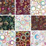 Big set seamless festive patterns. Vector illustration Stock Photography