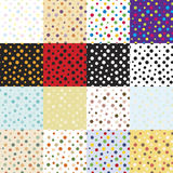 Big set of seamless pattern mini bubbles. 16 seamless patterns mini bubbles. Multi-colored, monochrome, vintage. Vector eps10 Royalty Free Illustration
