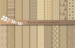 Big set seamless patterns, stock illustration