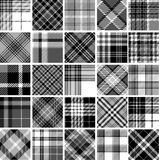 Big set of seamless tartan patterns Stock Images