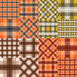 Big set of seamless tartan patterns Stock Photography