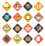 Big set of shopping icons. Vector. Big set of flat vector icons of shopping for the web Royalty Free Stock Photography