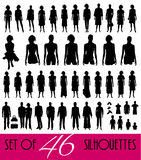 Big set of silhouettes Stock Photo