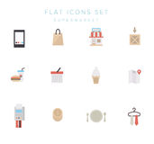 Big set of simple shopping icons. Vector. Big set of simple flat vector icons of shopping for the web Royalty Free Stock Photo