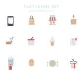 Big set of simple shopping icons. Vector. Big set of simple flat vector icons of shopping for the web stock illustration