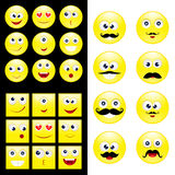 Big set smiley Royalty Free Stock Images