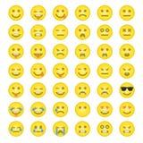 Big set of smilies Stock Photos