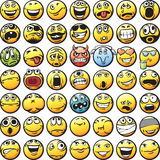 Big set of smilies Royalty Free Stock Photo