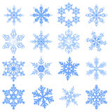 Big set Snowflake. Flake of snow Royalty Free Stock Photo