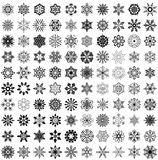 Big set of snowflakes Royalty Free Stock Photography