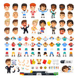 Big Set for Soccer Project Royalty Free Stock Images