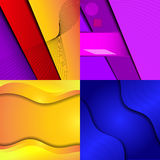 Big Set Of Soft Colored Abstract Background. Royalty Free Stock Photo