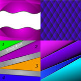 Big Set Of Soft Colored Abstract Background. Royalty Free Stock Photos