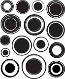Big set of solid black templates for rubber stamps Stock Photo