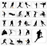 Big set of sport vector. Big set of sport silhouettes vector Stock Photos
