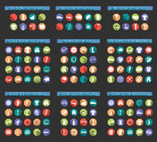 Big Set of Sport Vector Flat Icons Royalty Free Stock Image