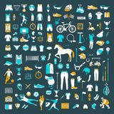 Big Set of Sport Vector Icons Royalty Free Stock Photo