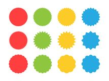 Big set of starburst sale sticker label. Sunburst price tag discount sticker, shopping, sale, special offer badges. Retro style. Label. Vector illustration royalty free illustration