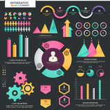Big set of statistical business infographic elements. A big set of colorful infographic elements including statistical arrows, bars, graphs and charts for your Royalty Free Stock Photos
