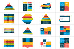 Big set of tables, schedules, banners. Royalty Free Stock Image