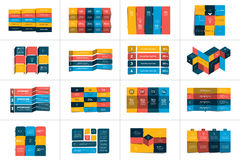 Big set of tables, schedules, banners. Step by step infographic. Stock Image