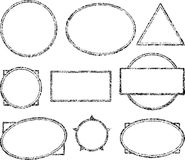 Big set of templates for rubber stamps.  Royalty Free Stock Images