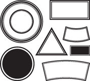 Big set of templates for rubber stamps. Vector illustration. Stock Photo