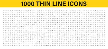 Big set of 1000 thin line Web icon. Business, finance, shopping, logistics, medical, health, people, teamwork, contact us, arrows