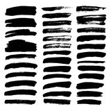 Big set of thin smears of ink Royalty Free Stock Image