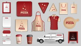 Pizza branding design vector set. royalty free illustration