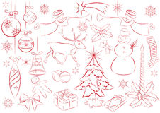 Big set of vector christmas elements Stock Images