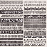Big Set Of Vector Decorative Borders Stock Photo
