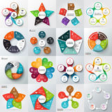 Big set of vector elements for infographic. Big set of vector arrows, pentagons, circles and other elements for infographic. Template for cycle diagram, graph Stock Photo