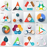 Big set of vector elements for infographic. Big set of vector arrows, triangles, circles and other elements for infographic. Template for cycle diagram, graph Stock Images