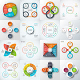 Big set of vector elements for infographic. Big set of vector squares, circles and other elements for infographic. Template for cycle diagram, graph. Business Stock Image