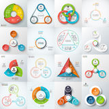 Big set of vector lements for infographic. Big set of vector triangles, circles and other elements for infographic. Template for cycle diagram, graph. Business Stock Photo