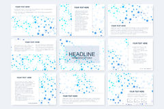 Big set of vector templates for presentation slides. Modern graphic background structure molecule and communication Royalty Free Stock Photography