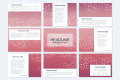 Big set of vector templates for presentation slides. Modern graphic background structure molecule and communication Stock Image