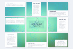 Big set of vector templates for presentation slides. Modern graphic background structure molecule and communication Royalty Free Stock Photo